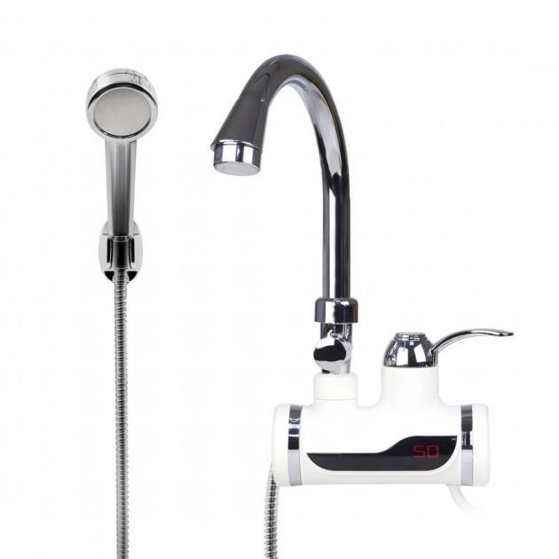 Проточный водонагреватель Delimano P992 Original  с LCD экраном и душем (0633)