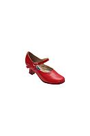 Туфли для народных танцев 605-05 чёрные, красные