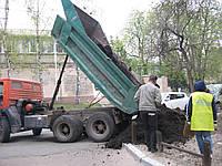 Доставка чернозема (торфа) самосвалами 5 - 10 тонн.