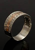 Кольцо серебряное с золотыми пластинами, фото 1