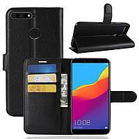 Чехол-книжка Litchie Wallet для Huawei Y6 Prime 2018 Черный