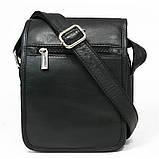 Кожаная сумка мужская Always Wild 5047SPN черная, фото 2
