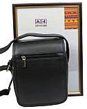 Кожаная сумка мужская Always Wild 5047SPN черная, фото 4