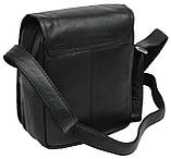 Кожаная сумка мужская Always Wild 5047SPN черная, фото 5