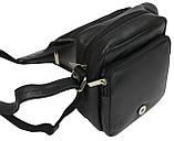 Кожаная сумка мужская Always Wild 5047SPN черная, фото 10