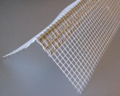 Уголок пластиковый перфорированный с сеткой (контрашульц) 2,5м