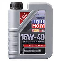 Минеральное моторное масло LiquiMoly MoS2 Leichtlauf SAE 15W-40 1 л.