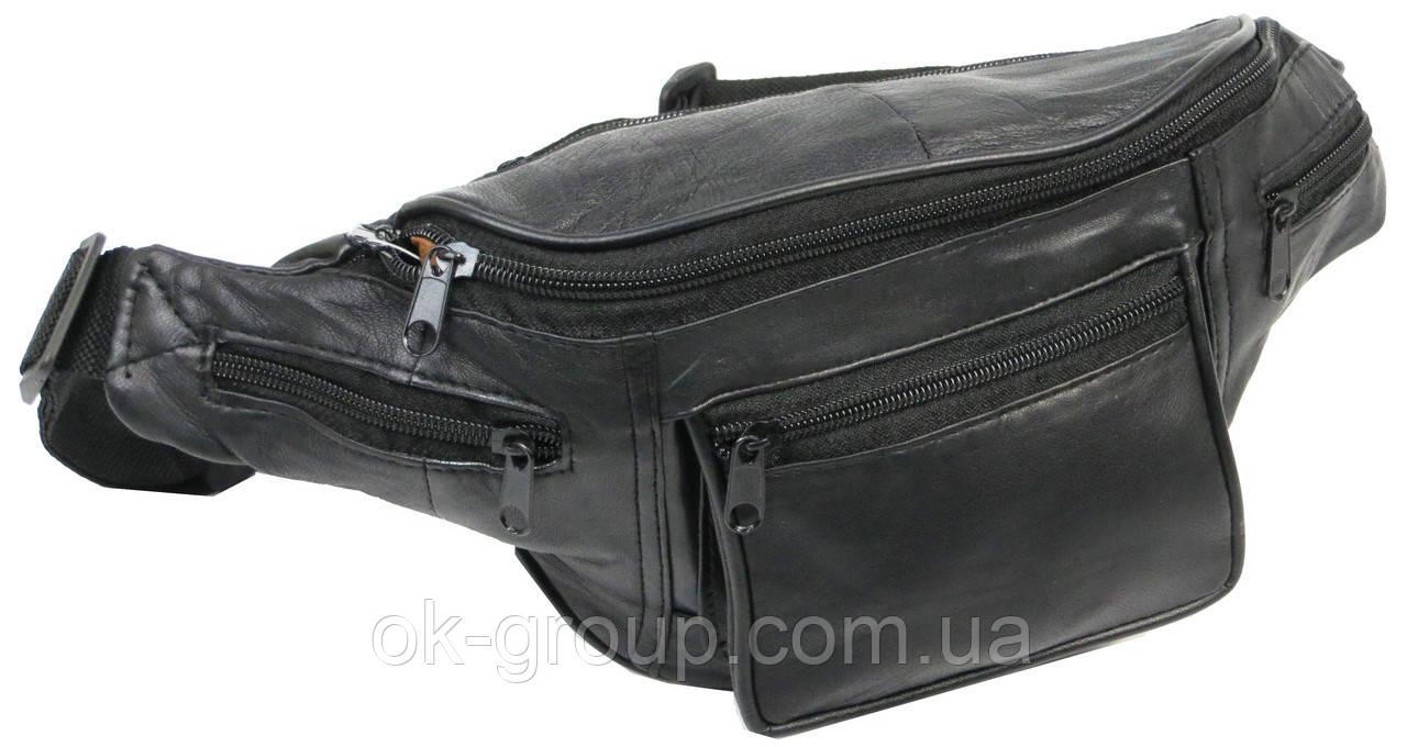 Поясная сумка, бананка кожаная Cavaldi SS110