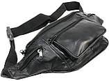 Поясная сумка, бананка кожаная Cavaldi SS110, фото 9