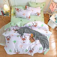 Комплект постельного белья Олененок (двуспальный-евро) Berni