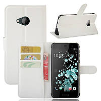 Чохол-книжка Litchie Wallet для HTC U Play Білий