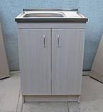 Мийка кухонна 60на50 з тумбою (комплект), фото 2