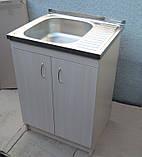 Мийка кухонна 60на50 з тумбою (комплект), фото 3