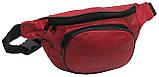 Кожаная поясная сумка Cavaldi 903-353 red, красный, фото 3