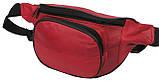Кожаная поясная сумка Cavaldi 903-353 red, красный, фото 4