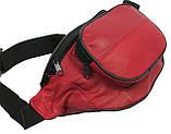 Кожаная поясная сумка Cavaldi 903-353 red, красный, фото 6