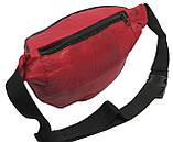 Кожаная поясная сумка Cavaldi 903-353 red, красный, фото 7