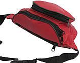 Кожаная поясная сумка Cavaldi 903-353 red, красный, фото 9