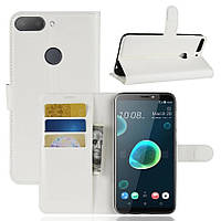 Чехол-книжка Litchie Wallet для HTC Desire 12+ Белый