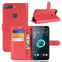 Чехол-книжка Litchie Wallet для HTC Desire 12+ Красный