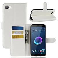 Чехол-книжка Litchie Wallet для HTC Desire 12 Белый