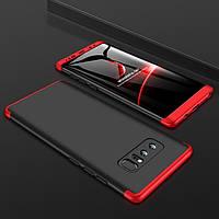 Чехол GKK 360 для Samsung Galaxy Note 8 / N950 оригинальный бампер Black-Red