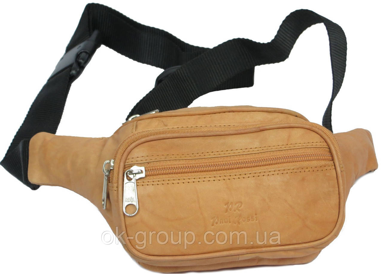 Поясная сумка из кожи Paul Rossi 908-MTN light brown