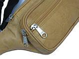Поясная сумка из кожи Paul Rossi 908-MTN light brown, фото 6