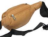 Поясная сумка из кожи Paul Rossi 908-MTN light brown, фото 7