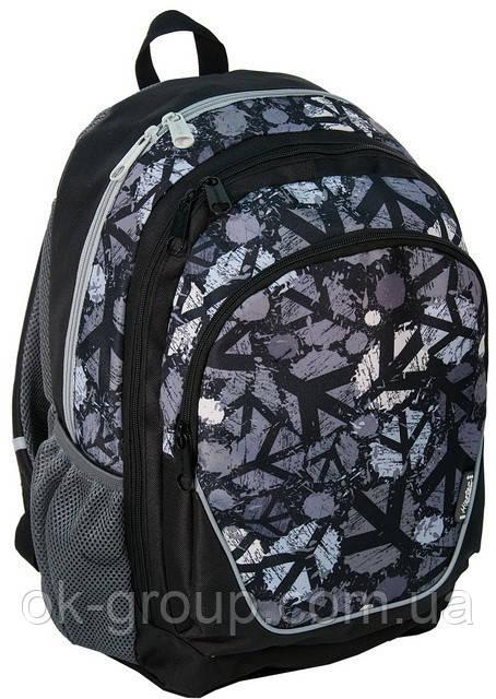 Молодежный рюкзак PASO 21L 15-367C черный/серый