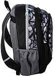 Молодежный рюкзак PASO 21L 15-367C черный/серый, фото 3