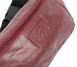 Поясная сумка из кожи Paul Rossi 907-N красно-коричневая, фото 5