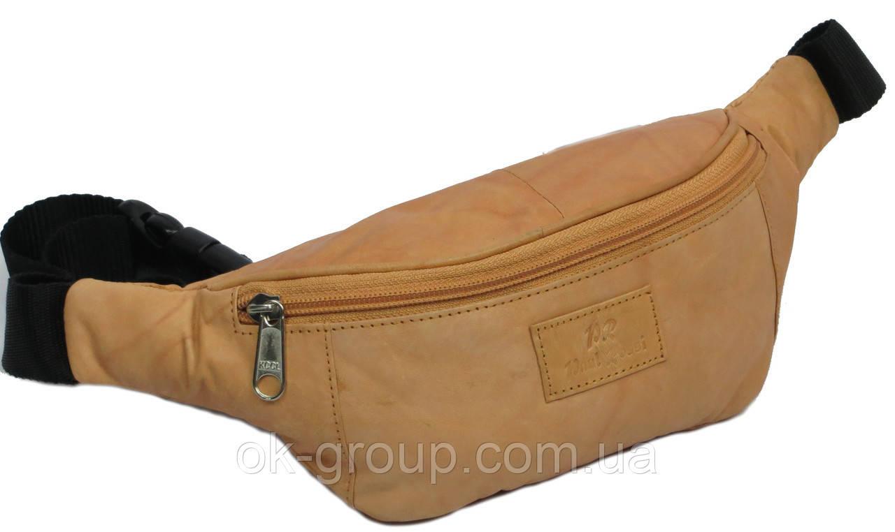 Поясная сумка из натуральной кожи Paul Rossi 907-рыжий