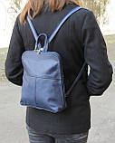 Женский рюкзачок 4U Cavaldi PC-1A-2 кожзам черный 6 л, фото 6