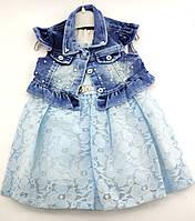Детское платье 2 3 4 лет для девочки Турция летнее хлопок платья нарядное, фото 1