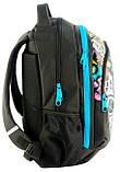 Молодежный рюкзак с абстракцией PASO 21L BDD-367 черный, фото 3