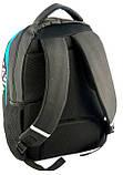 Молодежный рюкзак с абстракцией PASO 21L BDD-367 черный, фото 4