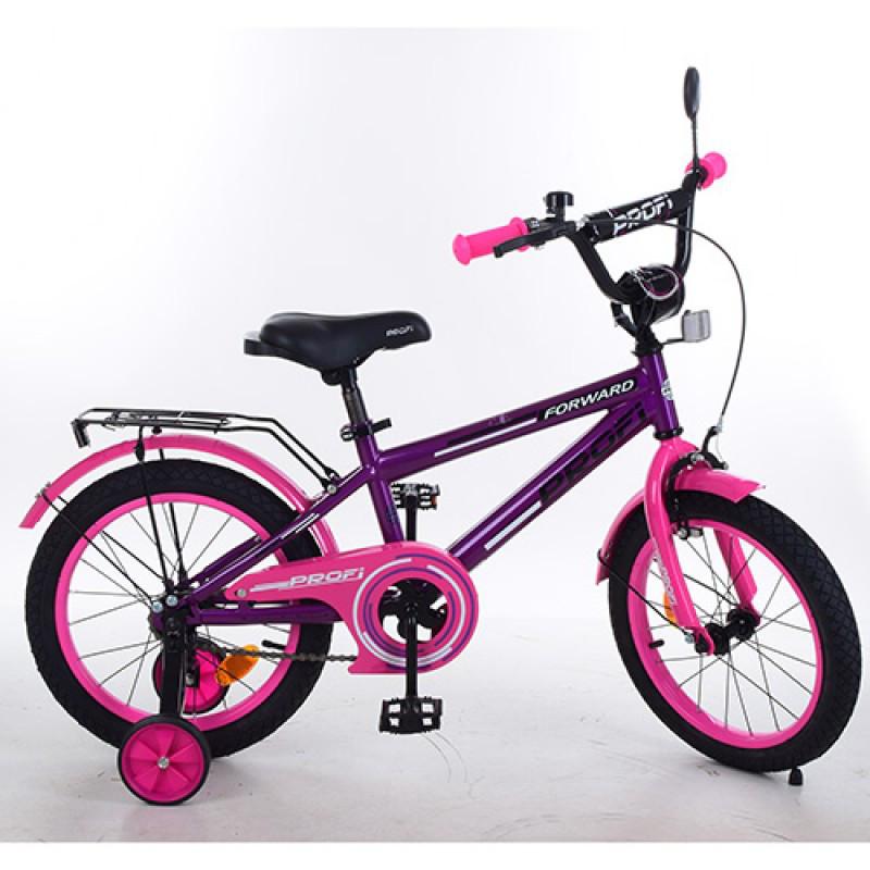 Детский двухколесный велосипед для девочки PROFI 14 дюймов, Forward T1477
