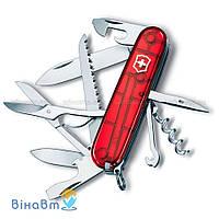 Швейцарский нож Victorinox Huntsman Red Transparent (1.3713.T)