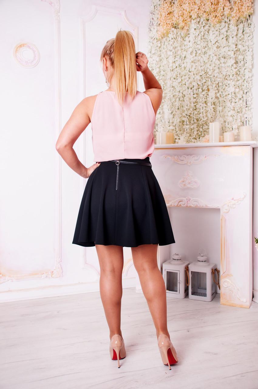 97f8f7e4062 Молодежная юбка Арина черного цвета