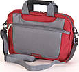 """Мужская качественная сумка для ноутбука 10"""" Sumdex Passage PON-308BK черный, PON-308RD бордовый, фото 2"""
