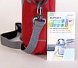 """Мужская качественная сумка для ноутбука 10"""" Sumdex Passage PON-308BK черный, PON-308RD бордовый, фото 7"""