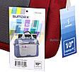 """Мужская качественная сумка для ноутбука 10"""" Sumdex Passage PON-308BK черный, PON-308RD бордовый, фото 8"""