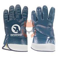 Перчатки маслостойкие Intertool SP-0001W