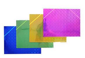 Папка А4 на резинке картон рисунок 12 шт/уп