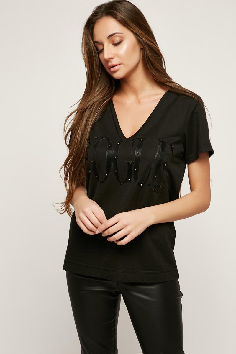 2171 футболка Vogue, черный - черный (46-48)