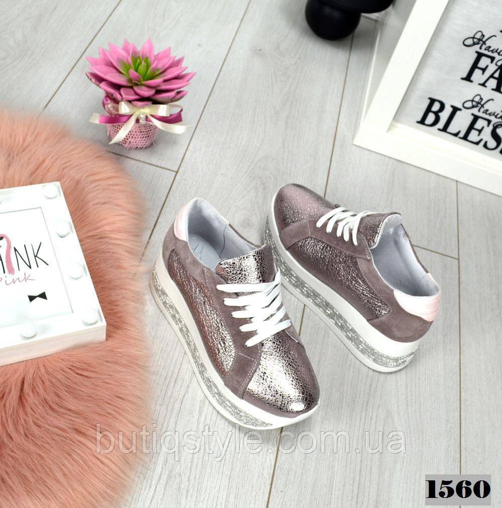 a74d3524 39, 40 размер! Женские кроссовки розовый перламутр MAXI натуральная ...