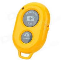Bluetooth Remote Shutter selfie Желтый Розничная коробка, фото 1