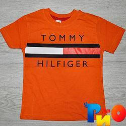 """Летняя футболка """"Tommy Hilfiger"""" , трикотаж , для мальчика 1-2;3-4;5-6;7-8 лет"""