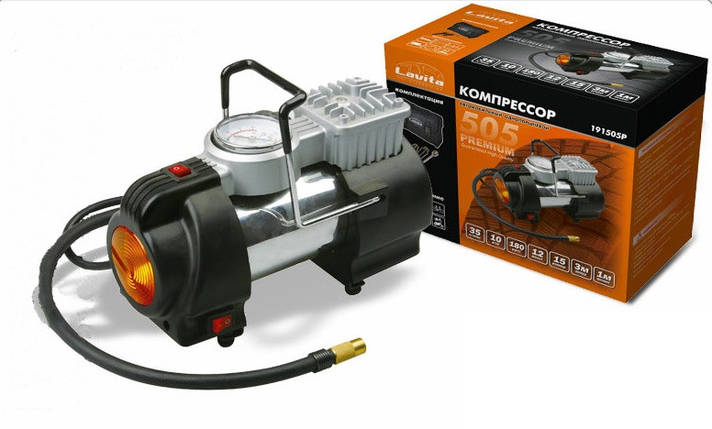 Автомобильный компрессор 12В, 12А, 15Атм, 35л/мин. LAVITA LA 191505P, фото 2